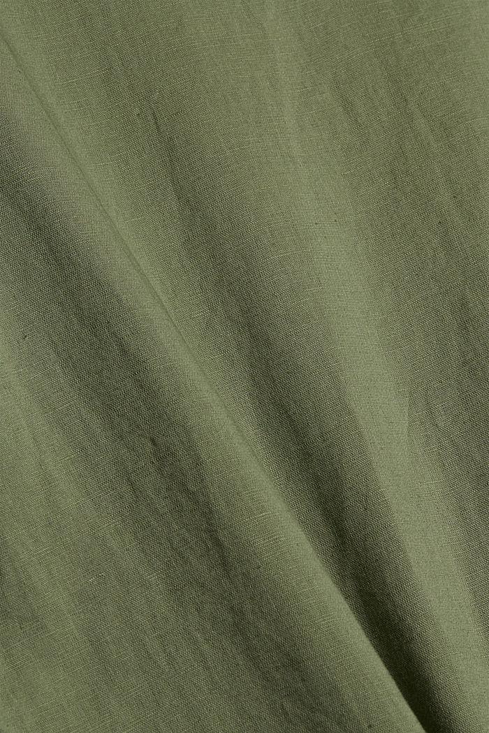 Linnenmix: tuniekblouse, LIGHT KHAKI, detail image number 4