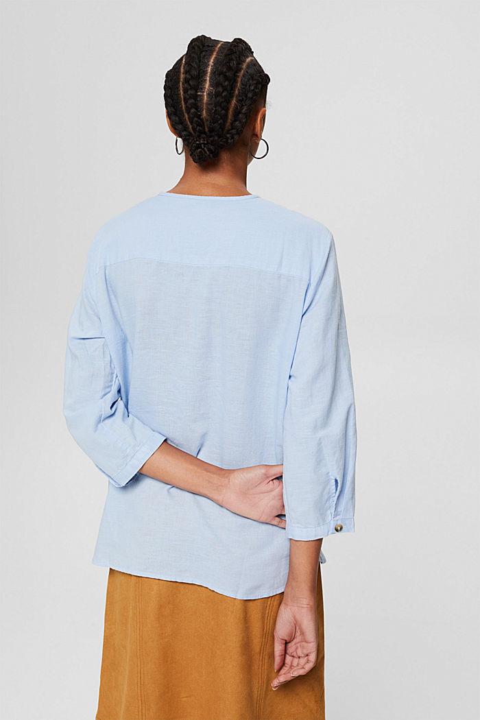 Blended linen: tunic blouse, LIGHT BLUE, detail image number 3