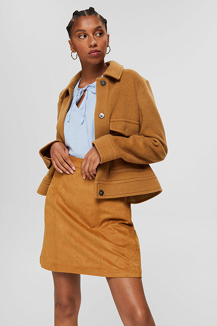 Blended linen: tunic blouse, LIGHT BLUE, detail image number 5