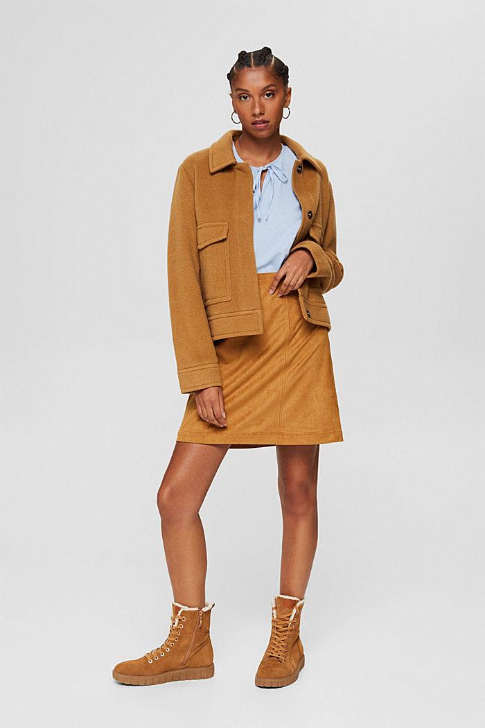 Mezcla de lino: blusa tipo túnica