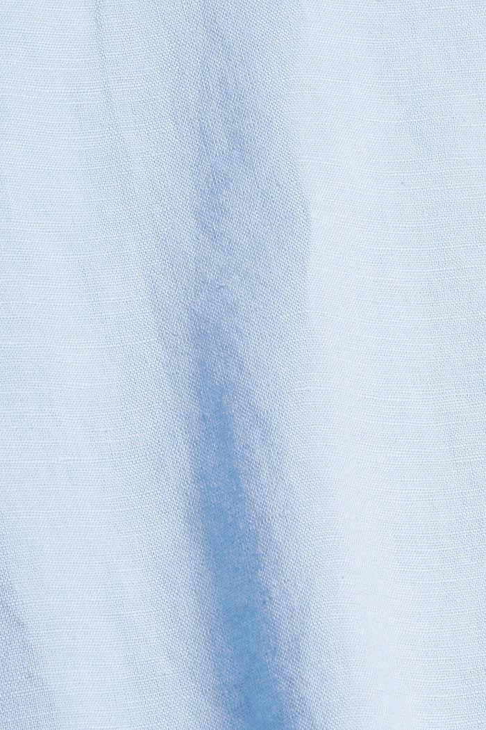 Blended linen: tunic blouse, LIGHT BLUE, detail image number 4