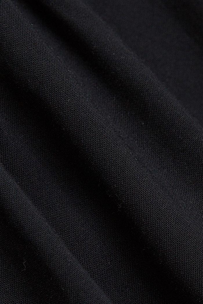 Spagettiolkaintoppi LENZING™ ECOVERO™ -materiaalia, BLACK, detail image number 4