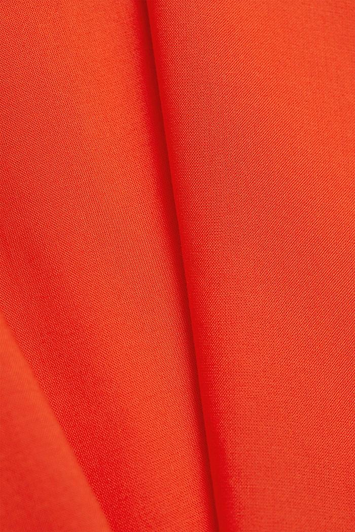 Top met spaghettibandjes van LENZING™ ECOVERO™, ORANGE RED, detail image number 4