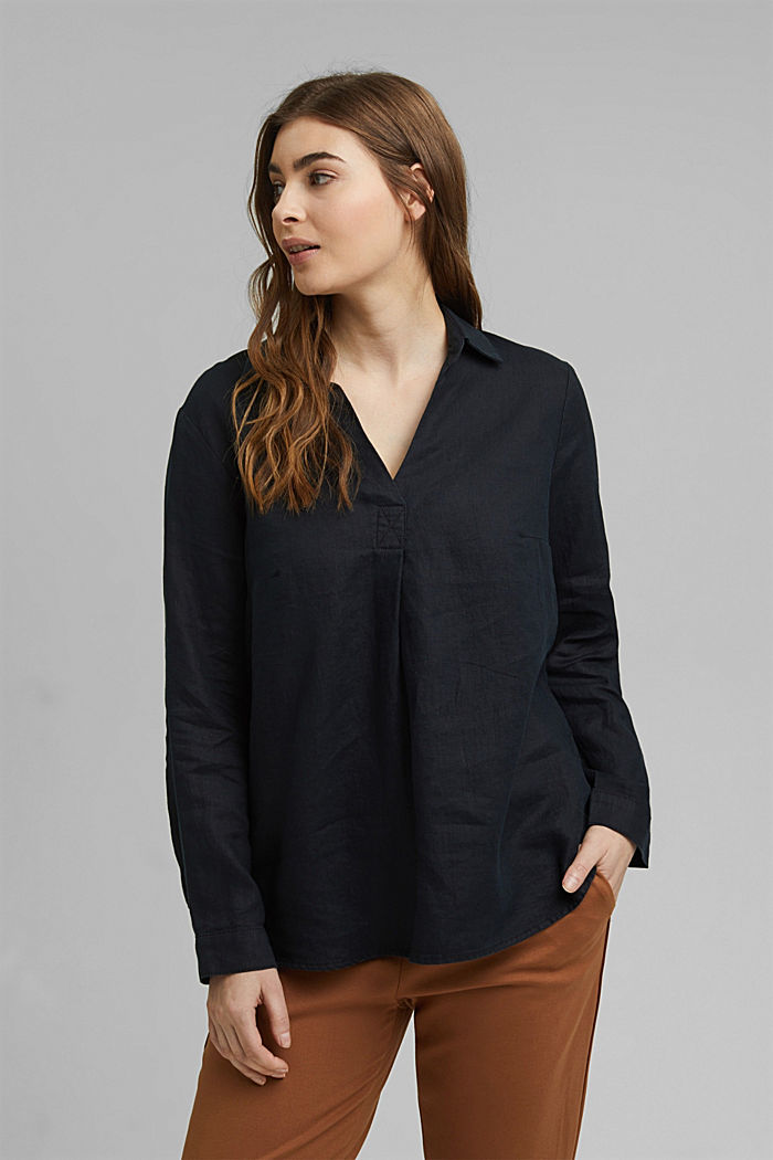 CURVY tunic blouse made of 100% linen