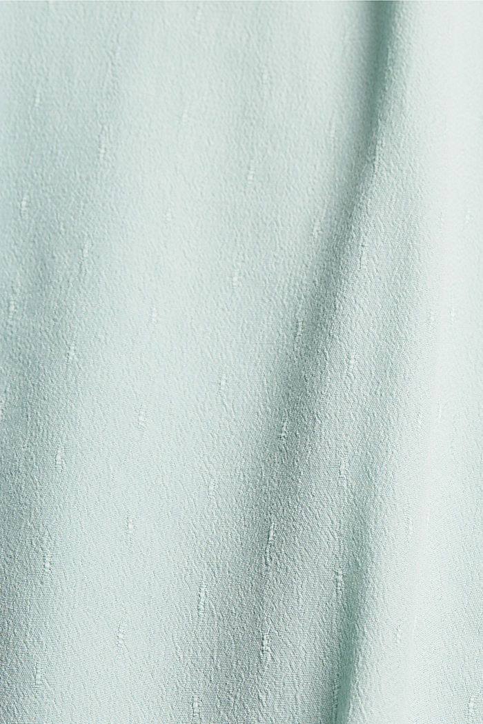 CURVY Blusentop mit feiner Struktur, LIGHT AQUA GREEN, detail image number 4