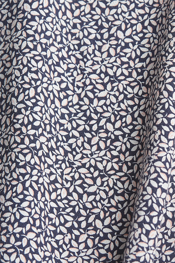CURVY blouse top with a floral print, NAVY, detail image number 4