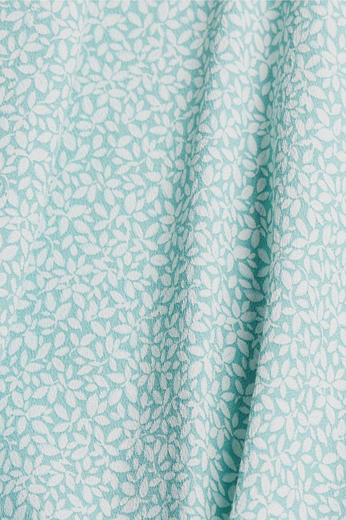 CURVY Blusentop mit floralem Print, TURQUOISE, detail image number 4