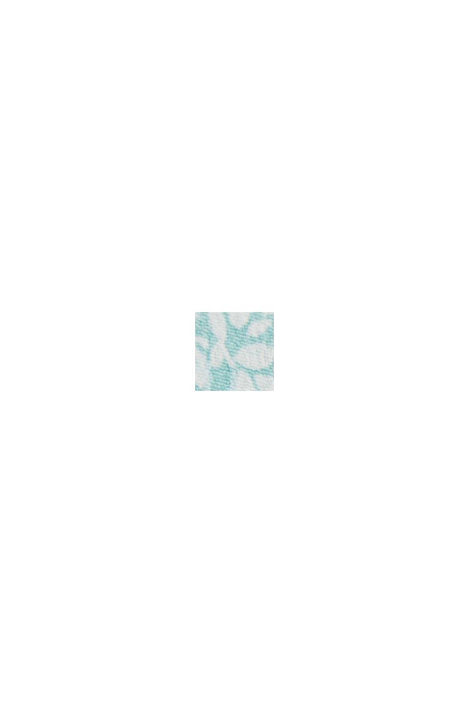 CURVY Blusentop mit floralem Print, TURQUOISE, swatch