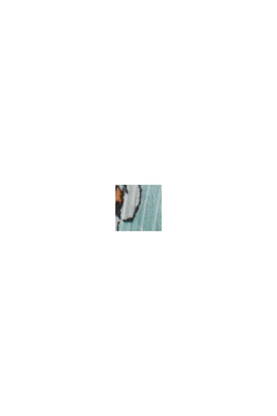 CURVY Recycelt: Chiffon-Bluse mit Print, TURQUOISE, swatch