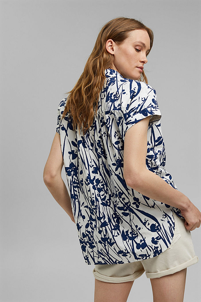 Browse top with print, 100% organic cotton, OFF WHITE, detail image number 3