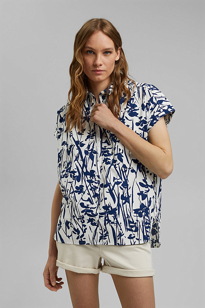 Browse top with print, 100% organic cotton, OFF WHITE, detail image number 5