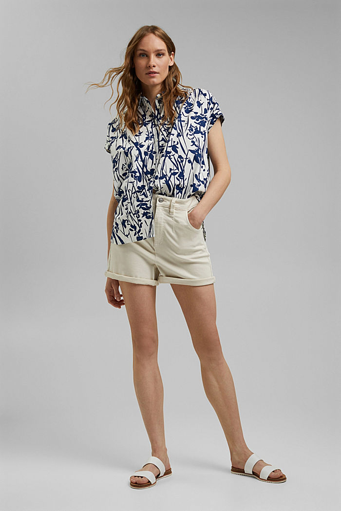 Browse top with print, 100% organic cotton, OFF WHITE, detail image number 1