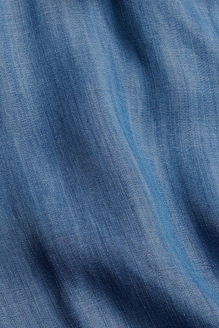 Van TENCEL™: jas met watervalkraag, BLUE MEDIUM WASHED, detail image number 4