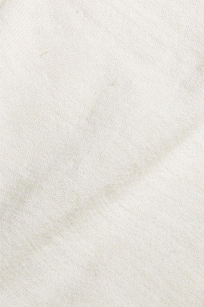 Linen/organic cotton: V-neck cardigan, OFF WHITE, detail image number 4