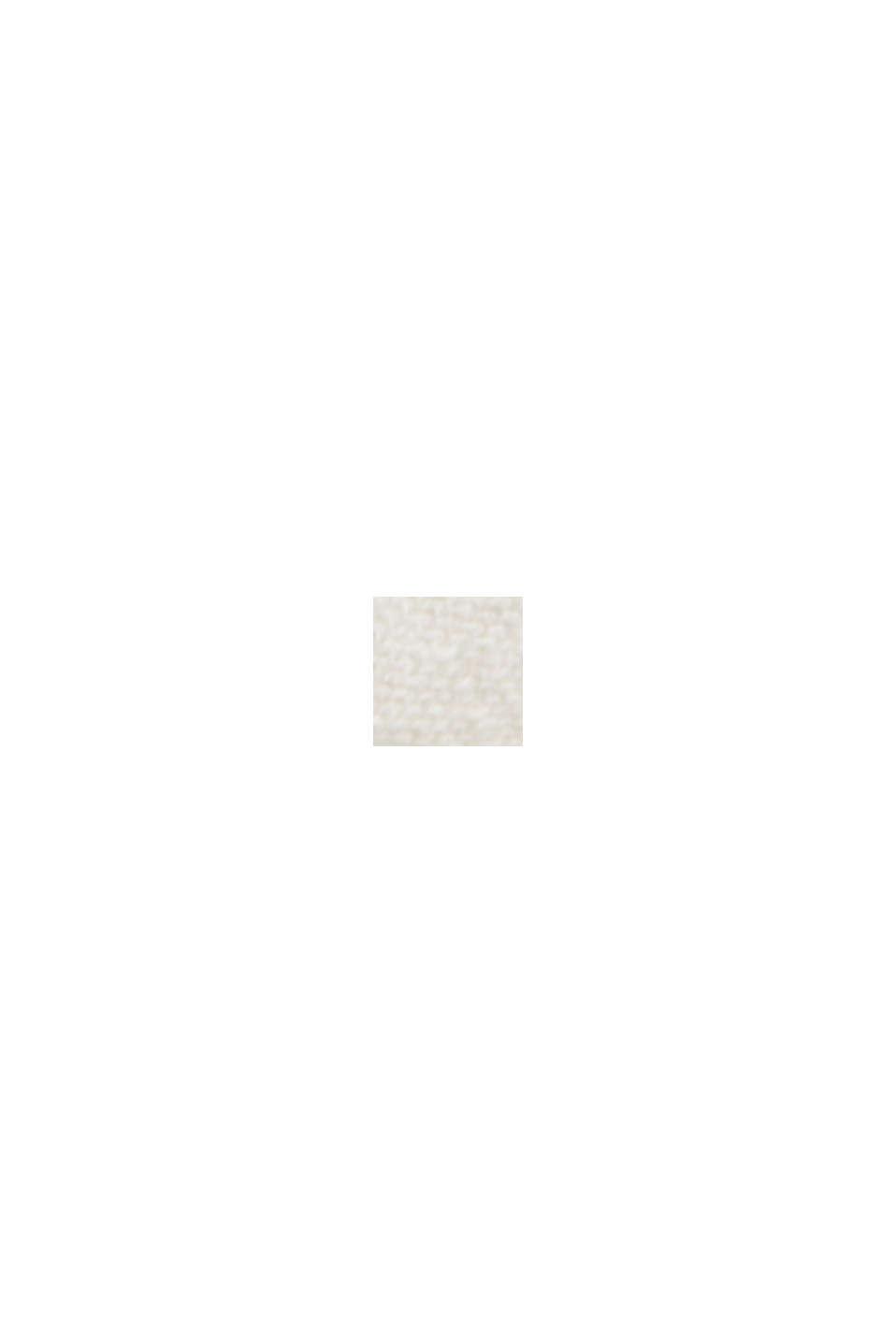 Leinen/Organic Cotton: V-Neck Cardigan, OFF WHITE, swatch