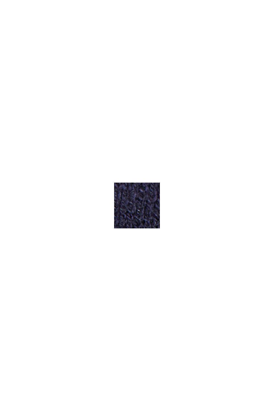 Leinen/Organic Cotton: V-Neck Cardigan, NAVY, swatch