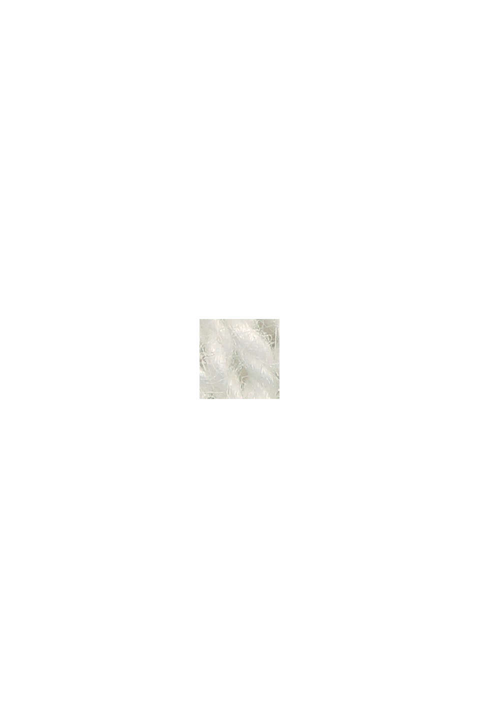 Linen/organic cotton: V-neck hoodie, OFF WHITE, swatch