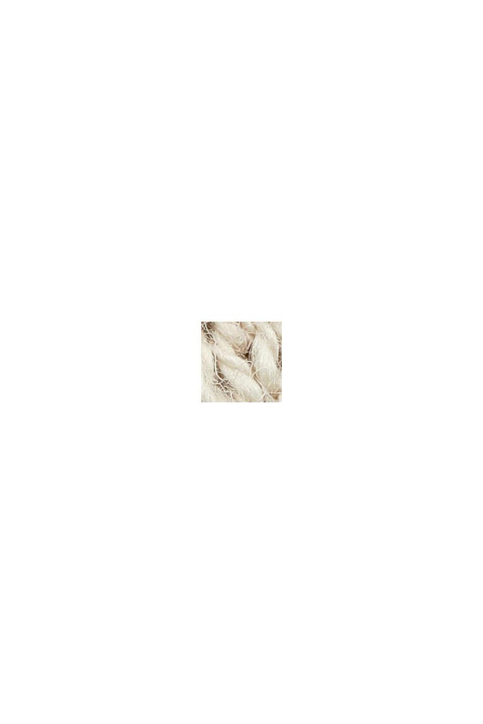 Linen/organic cotton: V-neck hoodie, SAND, swatch