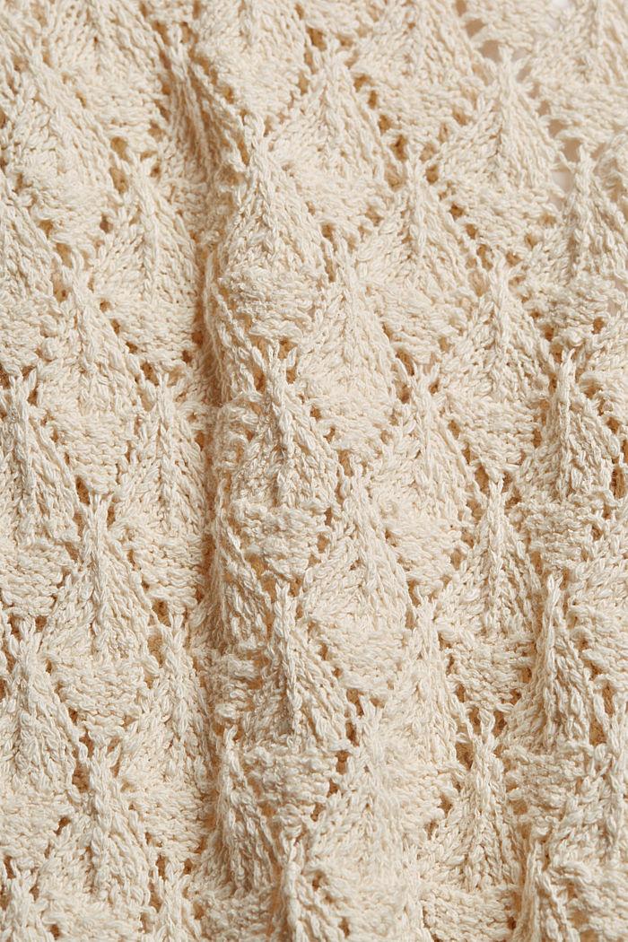 Cardigan aus 100% Organic Cotton, SAND, detail image number 4