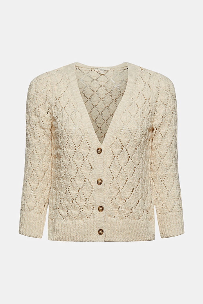 Cardigan made of 100% organic cotton, SAND, overview