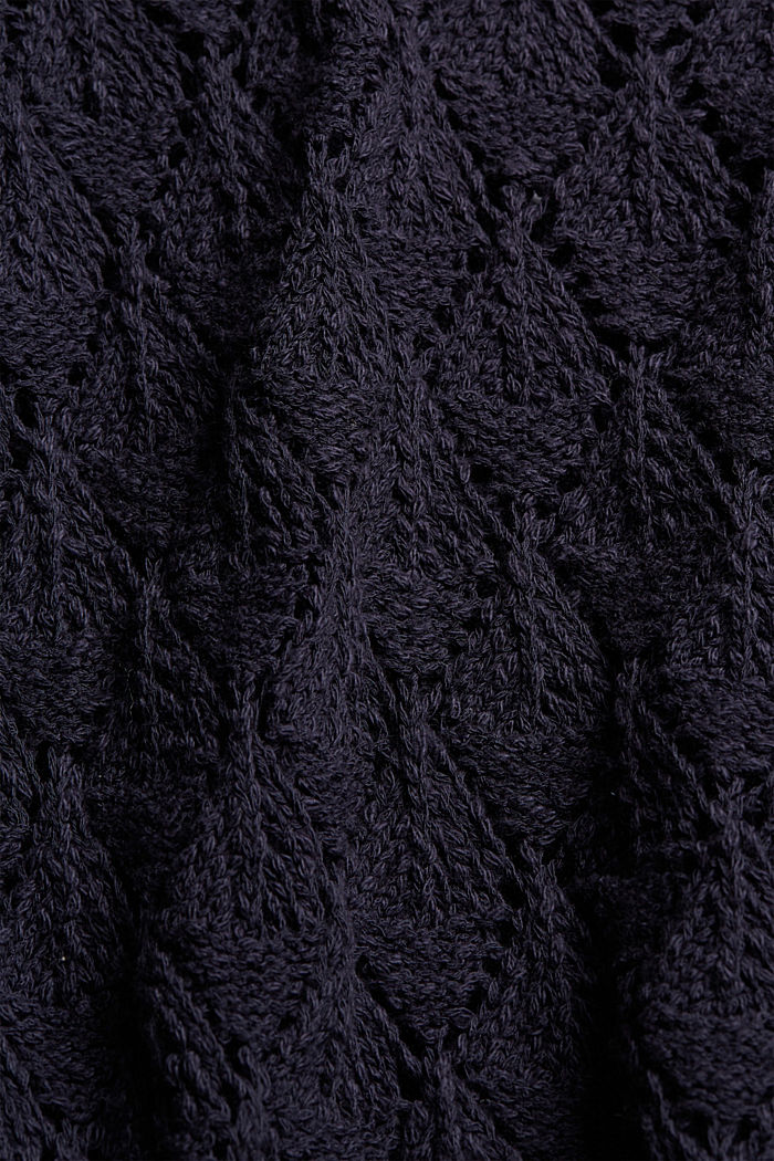 Cardigan made of 100% organic cotton, NAVY, detail image number 4