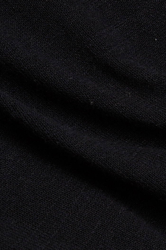 Linen/organic cotton: Knitted top, BLACK, detail image number 4