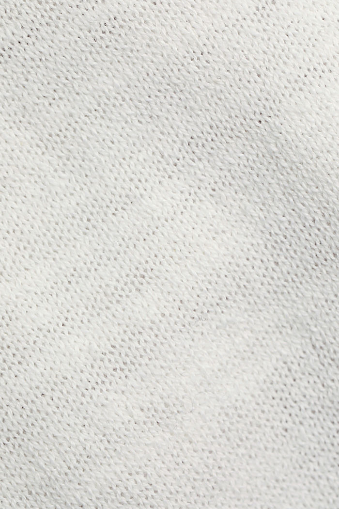 Leinen/Organic Cotton: Strick-Shirt, OFF WHITE, detail image number 4