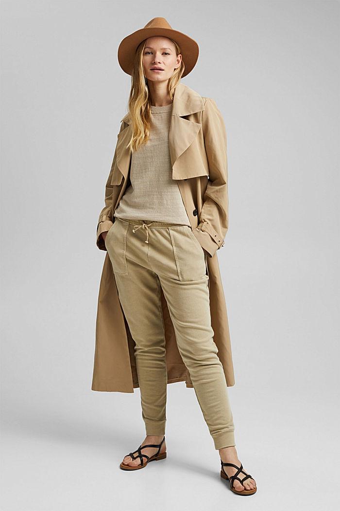 Leinen/Organic Cotton: Strick-Shirt, SAND, detail image number 5