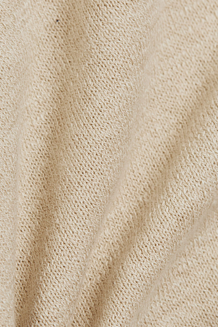 Leinen/Organic Cotton: Strick-Shirt, SAND, detail image number 4