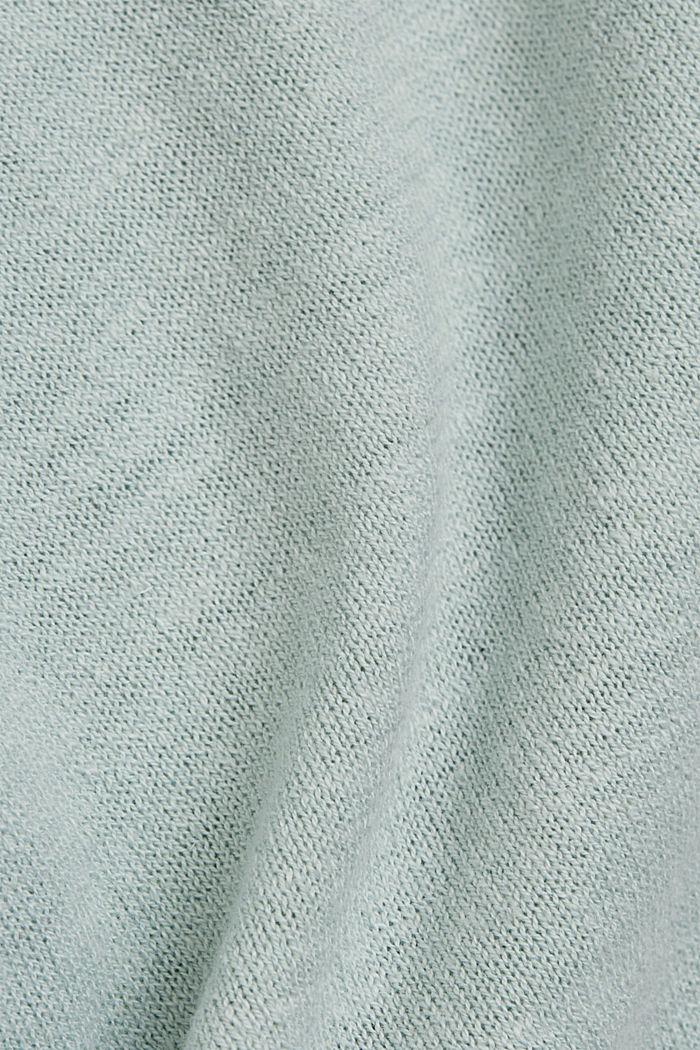 Linen/organic cotton: Knitted top, LIGHT AQUA GREEN, detail image number 4