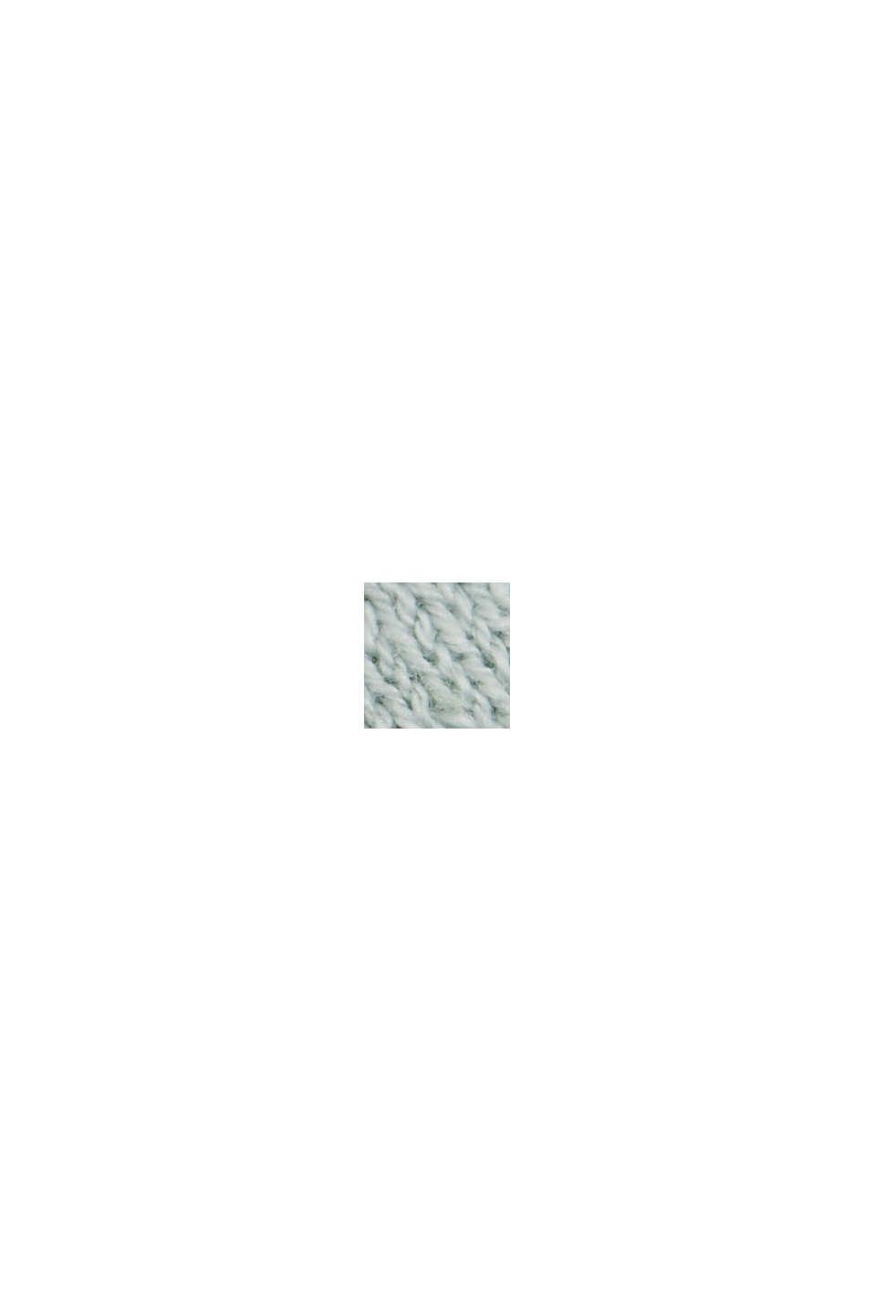 Leinen/Organic Cotton: Strick-Shirt, LIGHT AQUA GREEN, swatch
