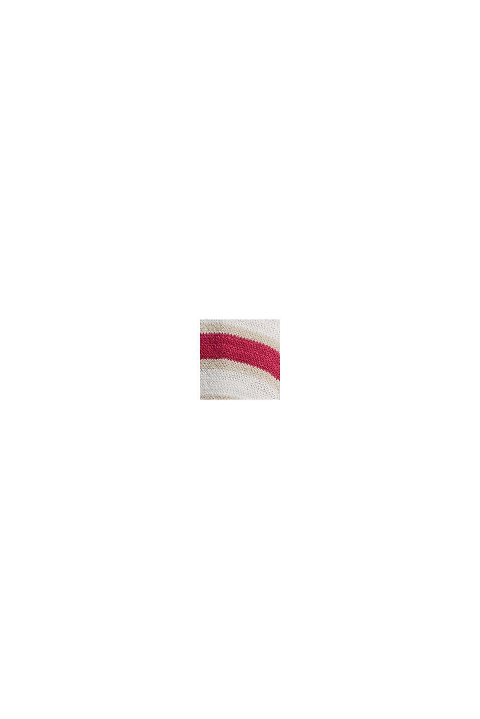 Short-sleeved jumper made of organic cotton/linen, DARK PINK, swatch