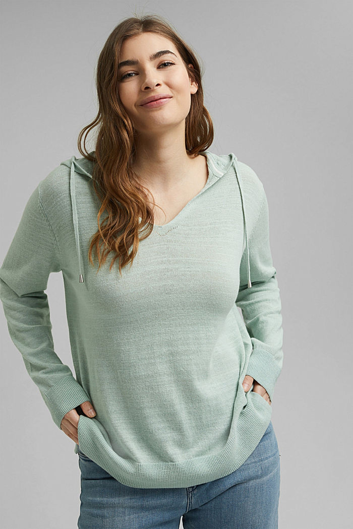 Sweaters, LIGHT AQUA GREEN, detail image number 0