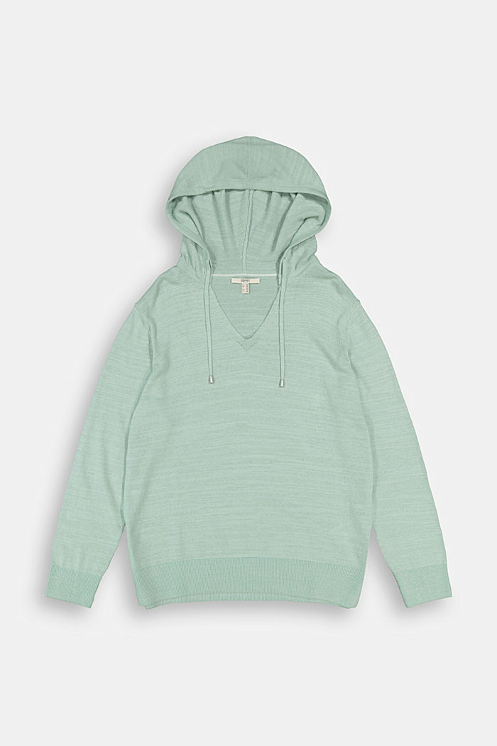Sweaters, LIGHT AQUA GREEN, detail image number 1