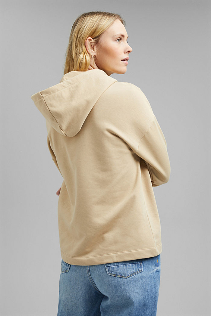 Hoodie made of organic blended cotton, SAND, detail image number 3