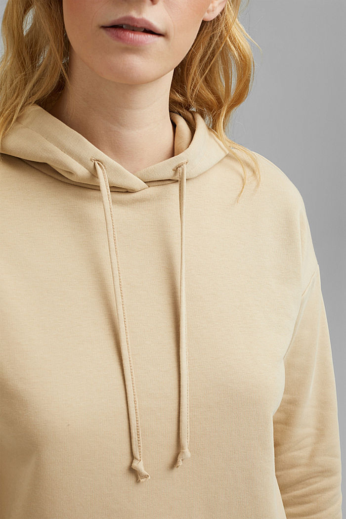 Hoodie made of organic blended cotton, SAND, detail image number 2