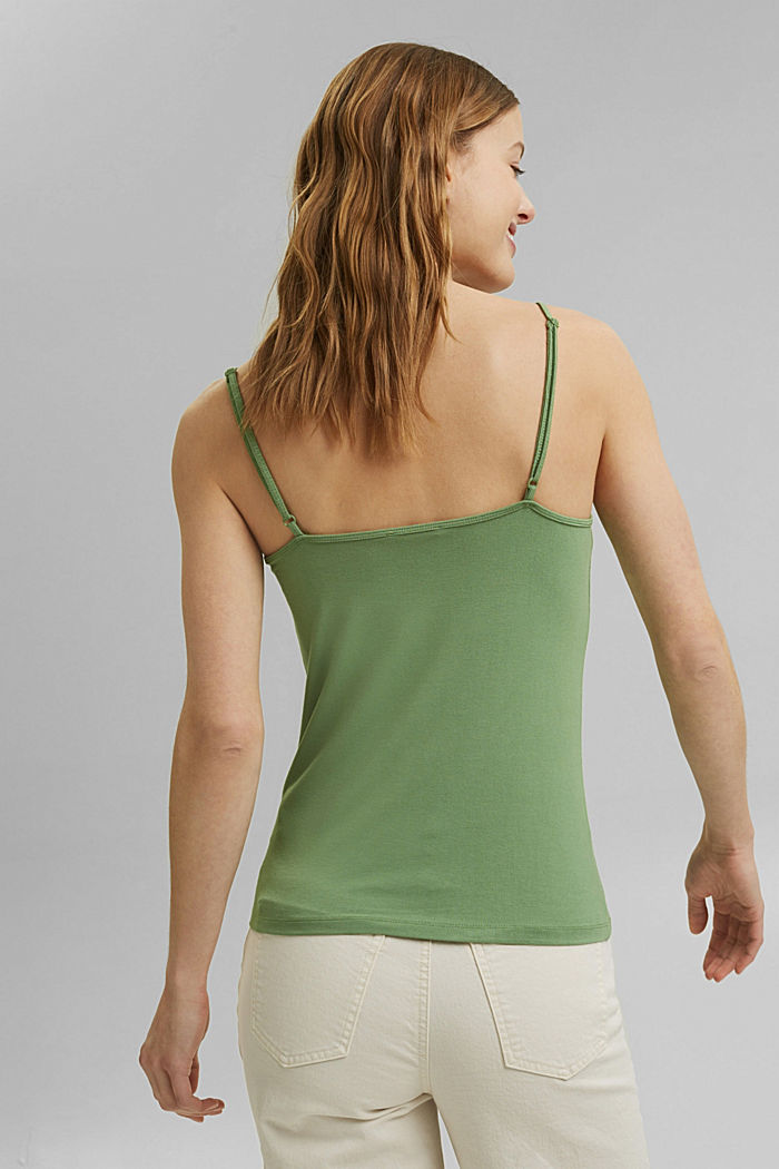 Strappy top made of LENZING™ ECOVERO™, LEAF GREEN, detail image number 3