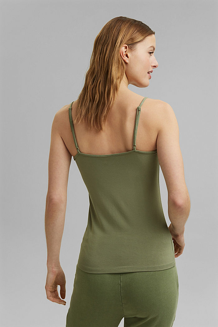 Strappy top made of LENZING™ ECOVERO™, LIGHT KHAKI, detail image number 3