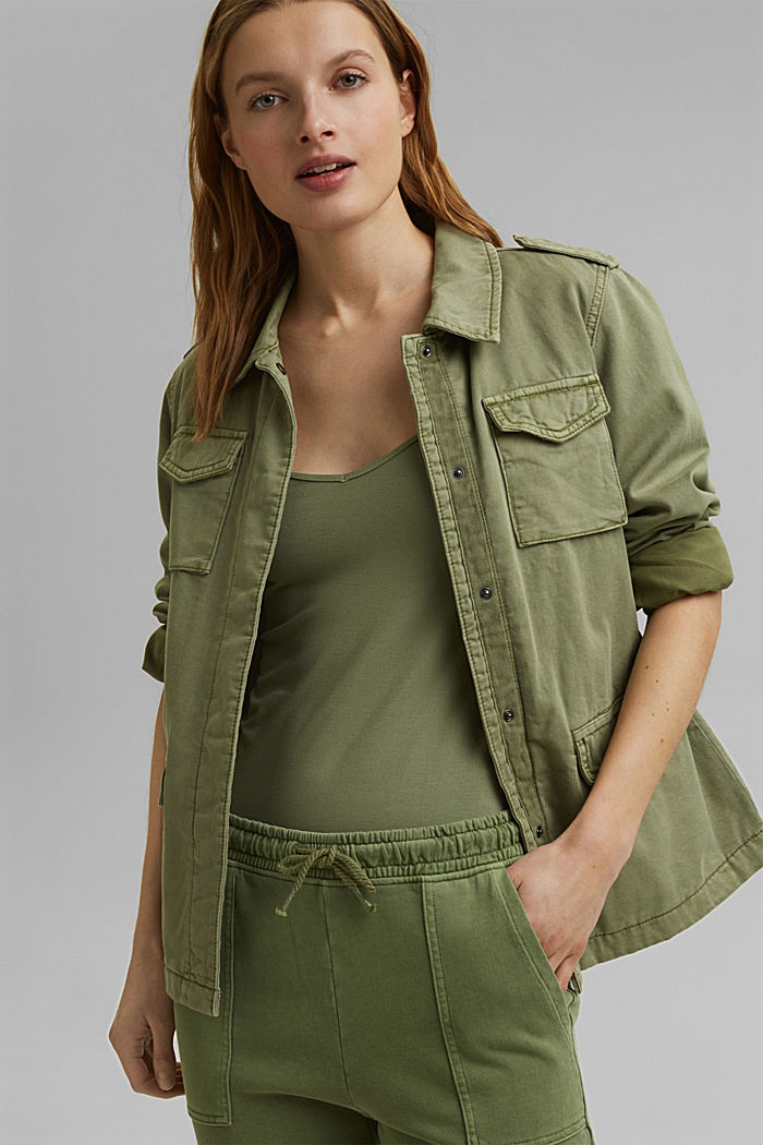 Strappy top made of LENZING™ ECOVERO™, LIGHT KHAKI, detail image number 5