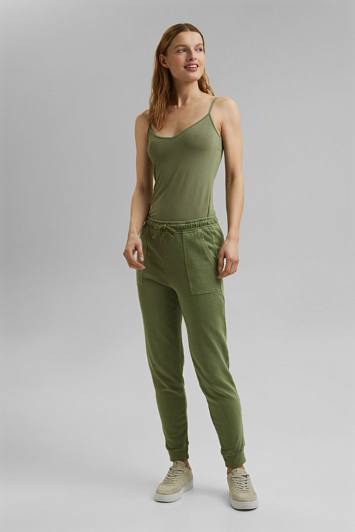 Strappy top made of LENZING™ ECOVERO™, LIGHT KHAKI, detail image number 6