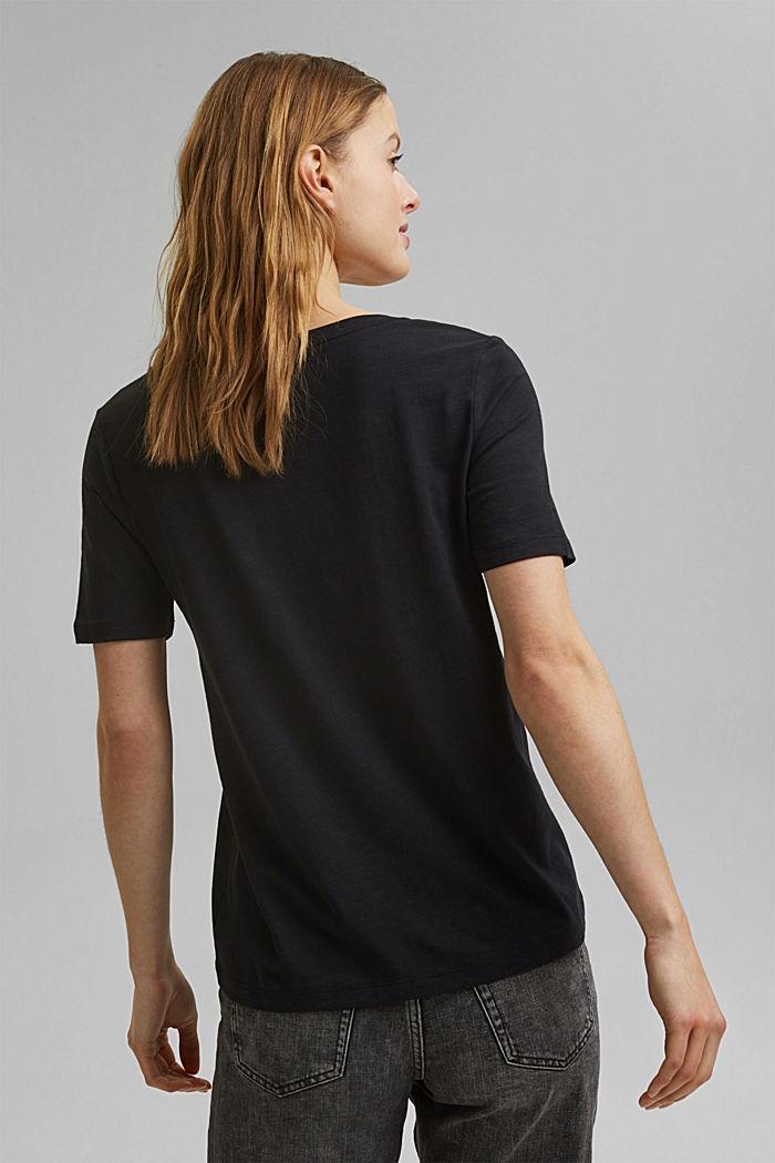 V-Neck-Shirt aus Organic Cotton/TENCEL™, BLACK, detail image number 3