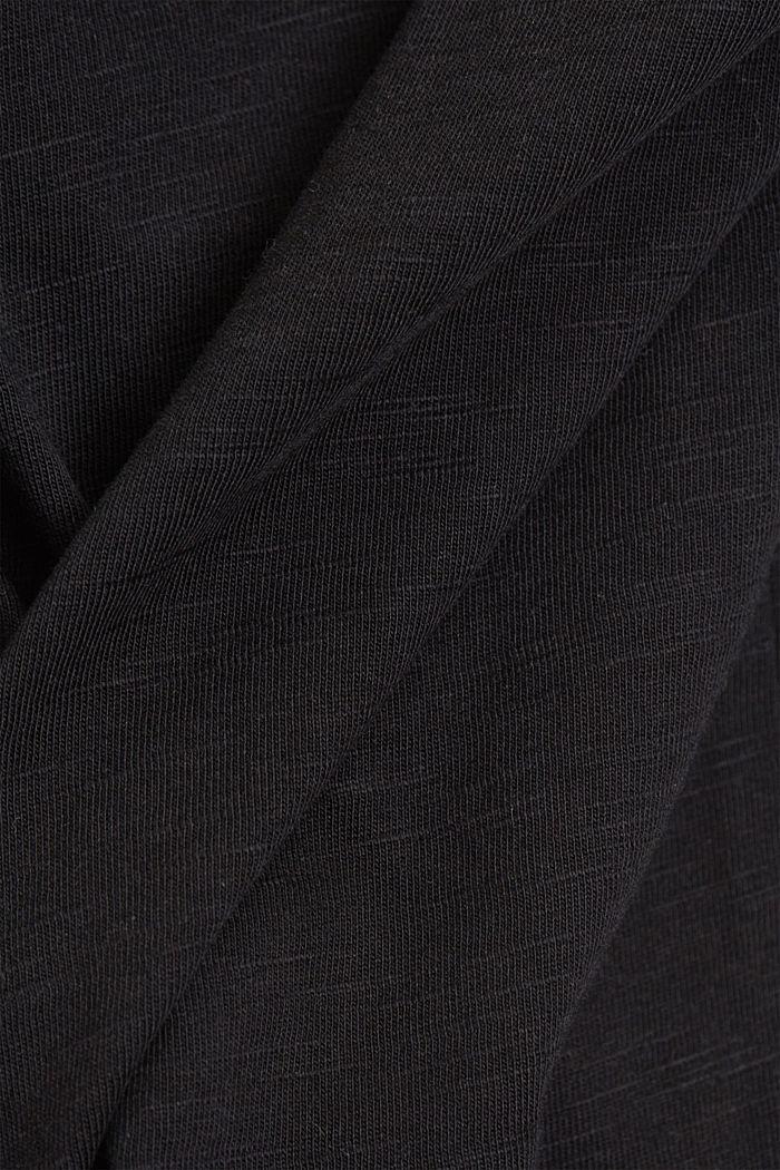V-Neck-Shirt aus Organic Cotton/TENCEL™, BLACK, detail image number 4