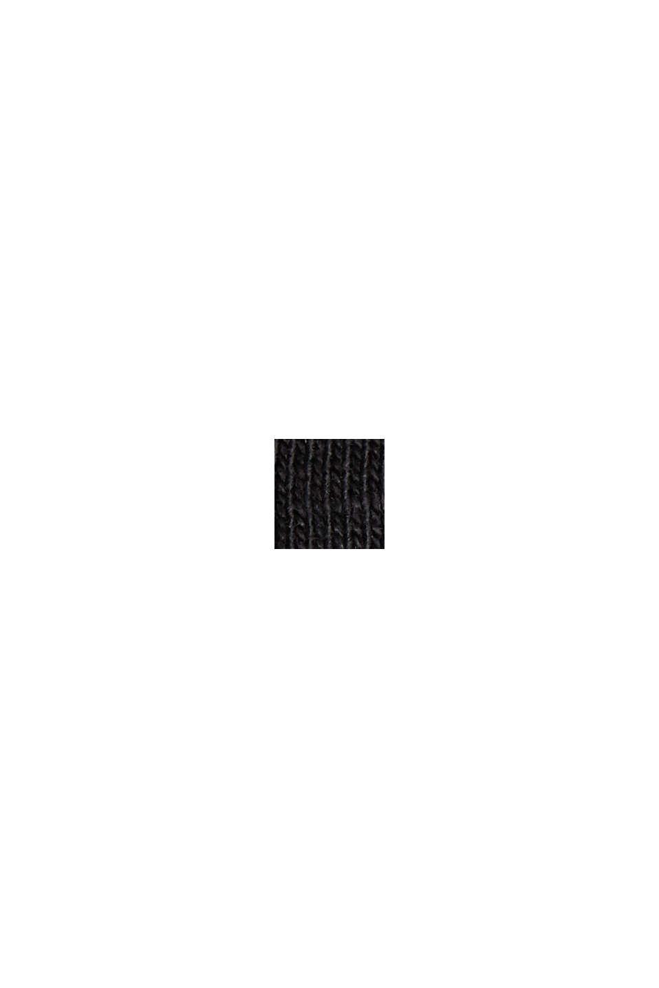 Maglia con scollo a V in cotone biologico/TENCEL™, BLACK, swatch