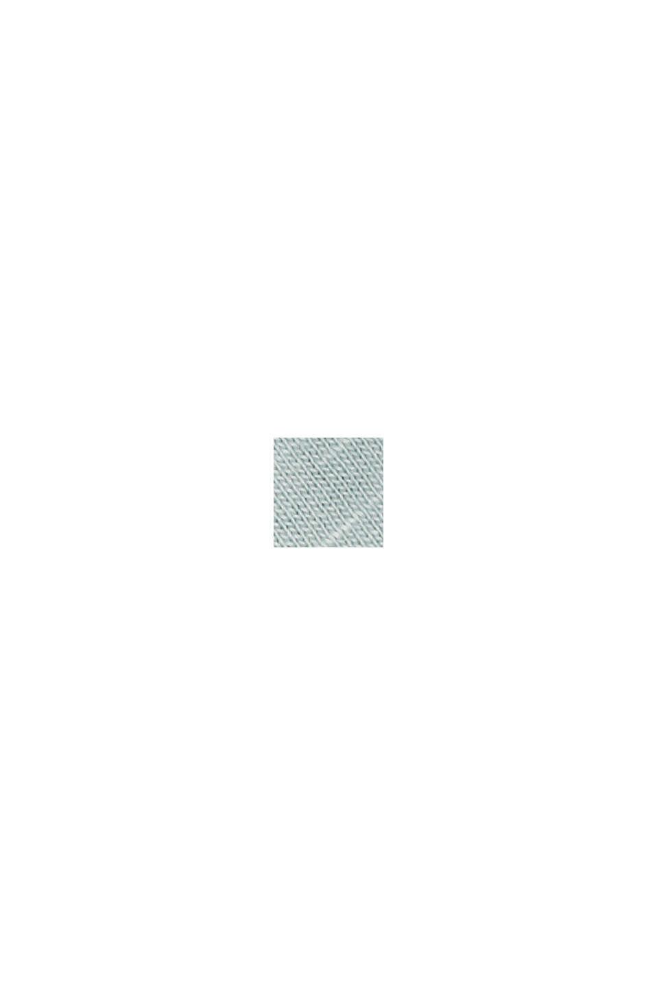 Maglia con scollo a V in cotone biologico/TENCEL™, LIGHT AQUA GREEN, swatch