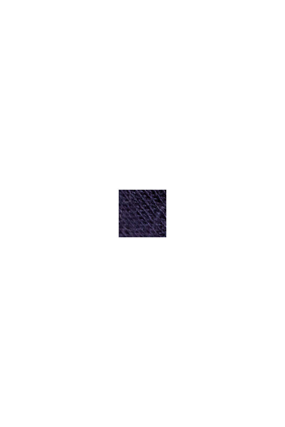 Maglia con scollo a V in cotone biologico/TENCEL™, NAVY, swatch