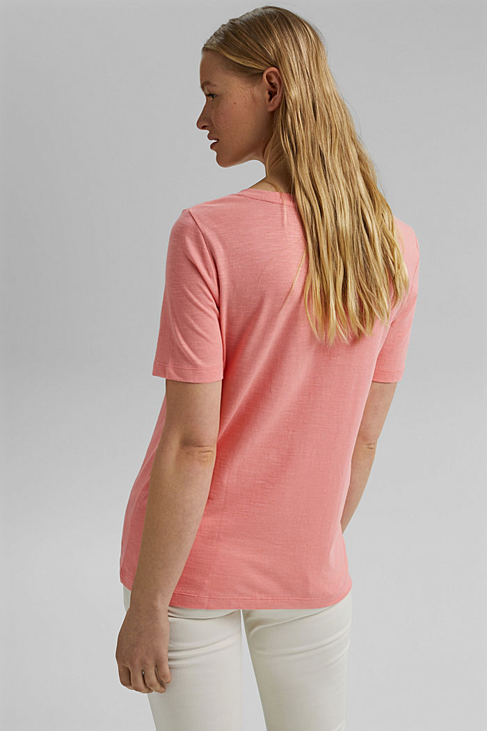 V-Neck-Shirt aus Organic Cotton/TENCEL™, PINK, detail image number 3
