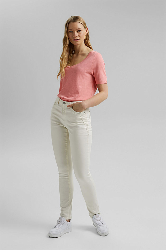 V-Neck-Shirt aus Organic Cotton/TENCEL™, PINK, detail image number 1