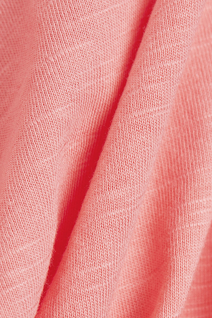 V-Neck-Shirt aus Organic Cotton/TENCEL™, PINK, detail image number 4