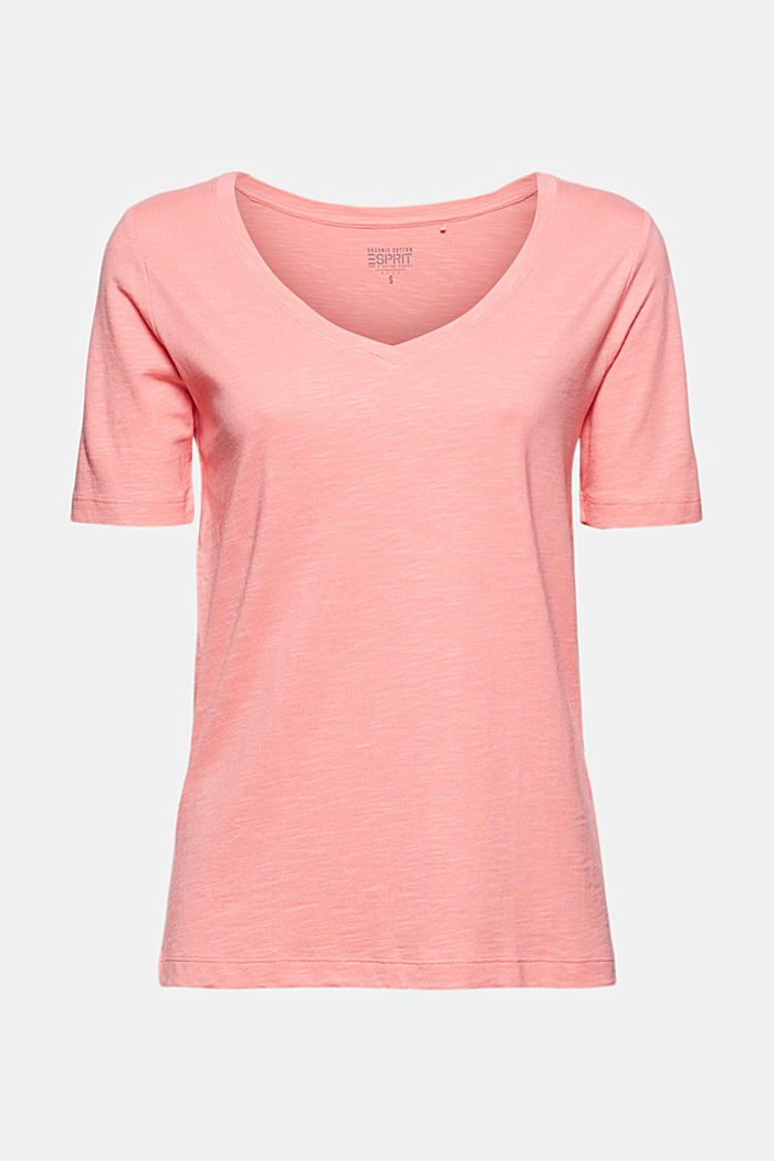 V-Neck-Shirt aus Organic Cotton/TENCEL™, PINK, detail image number 5