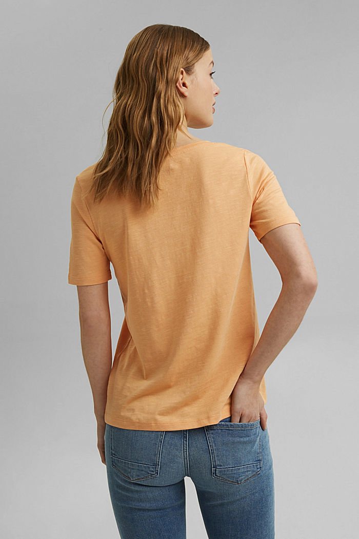 V-neck T-shirt made of organic cotton/TENCEL™, PEACH, detail image number 3
